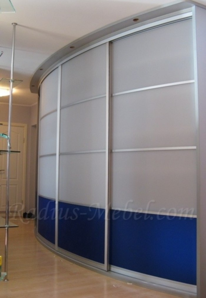 Современный шкаф-купе в стиле хай-тек - производитель мебели.