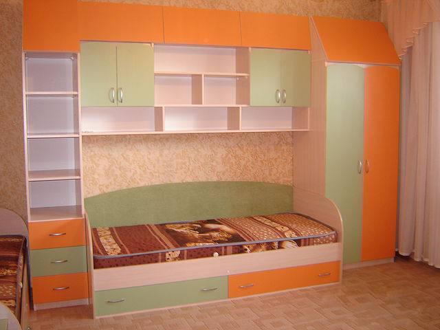 Детские кровати фото со шкафами