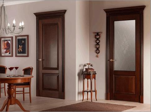 Межкомнатные двери фото темные