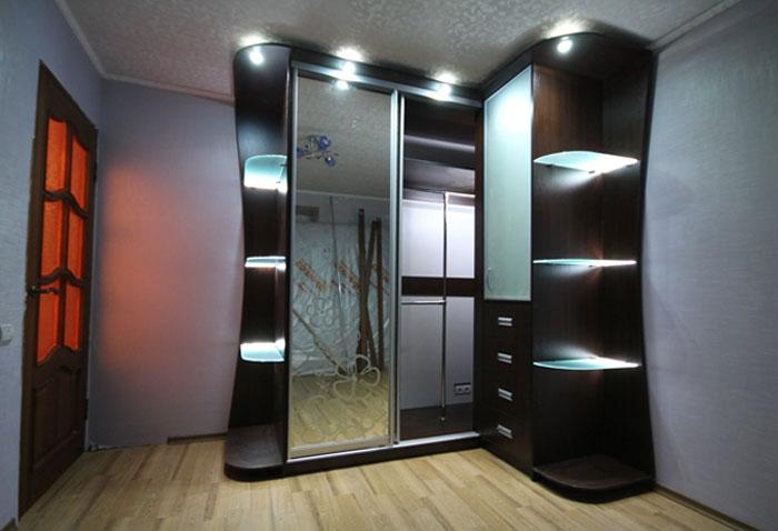 Шкаф купе с подсветкой фото