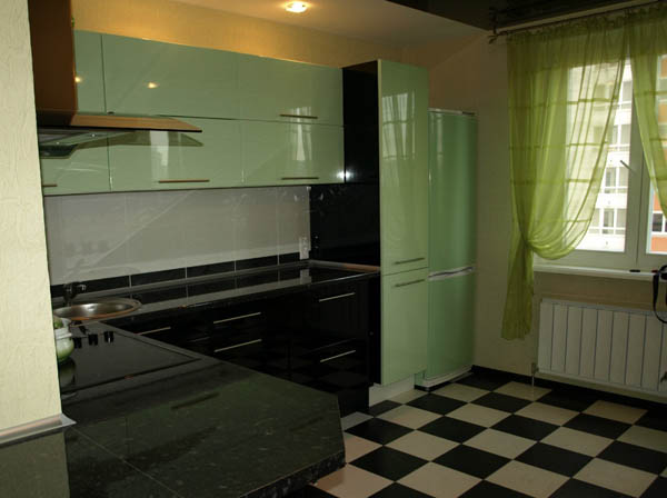 Кухня цвета мяты фото