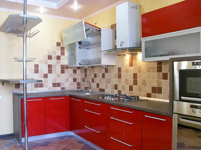 Красные кухни дизайнерская мебель