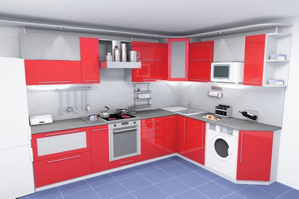 бордовые кухни фото