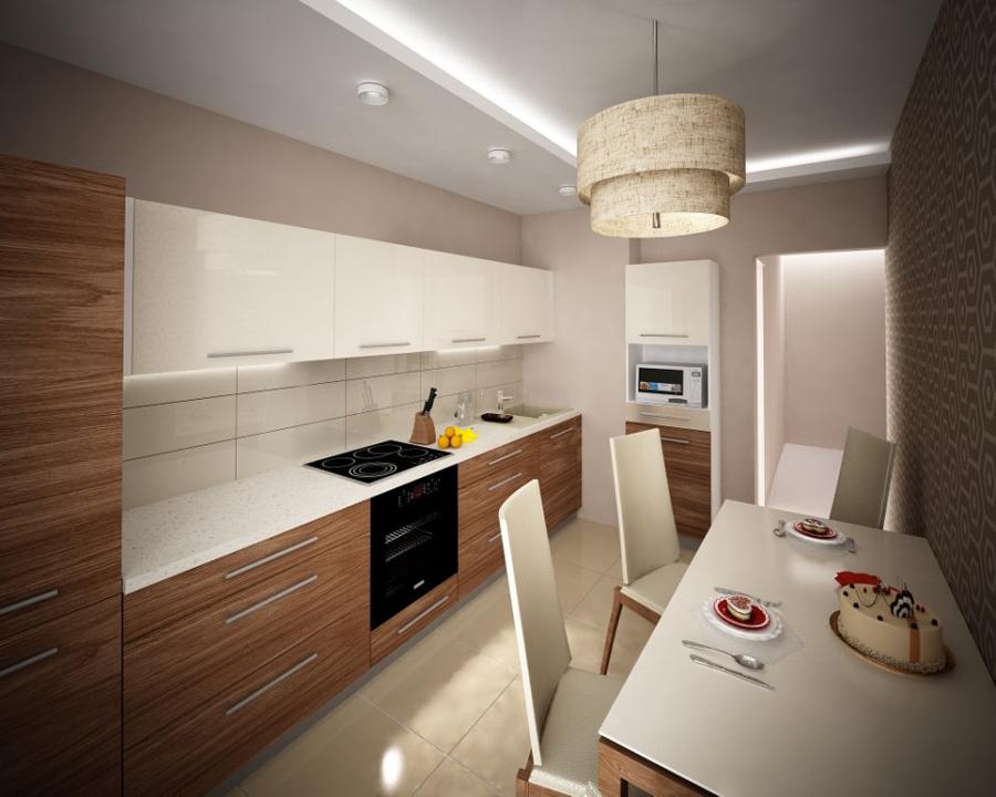Кухня цвет полосатый