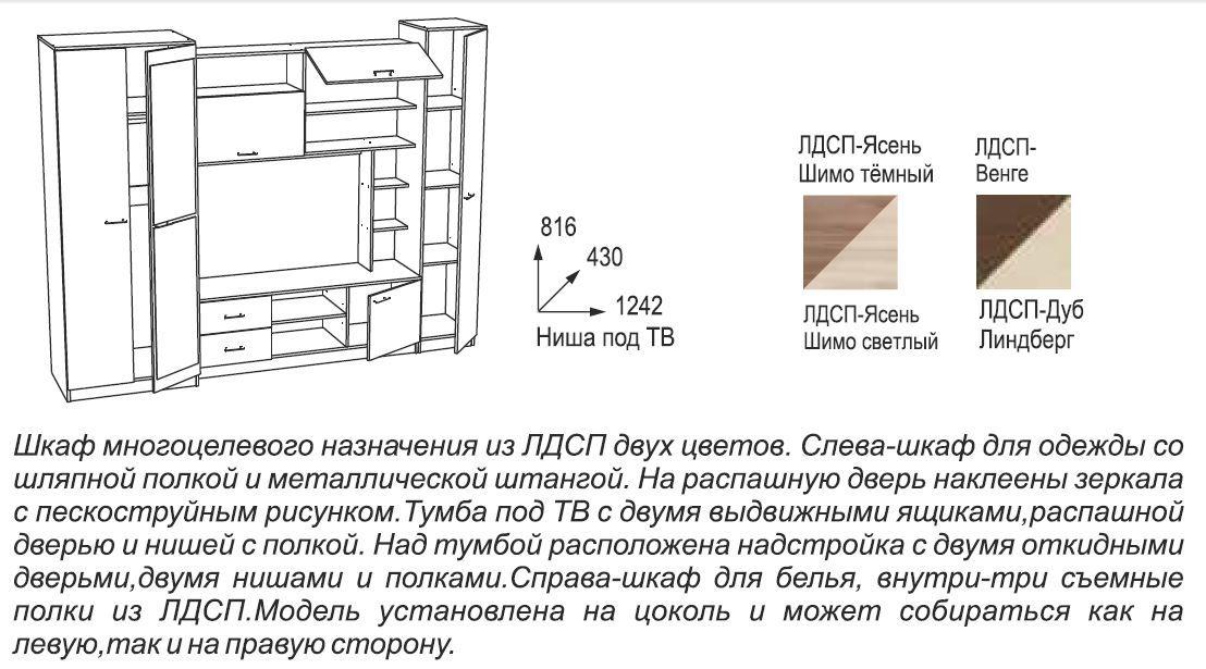 Схемы сборки мебели глория