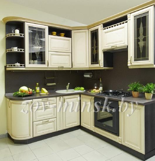 Кухня угловая классическая черно