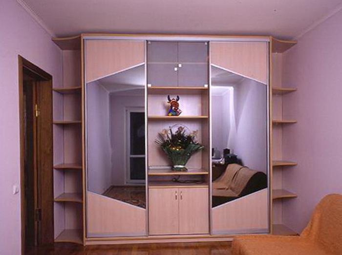 Шкафы-купе прямые мебель под заказ.