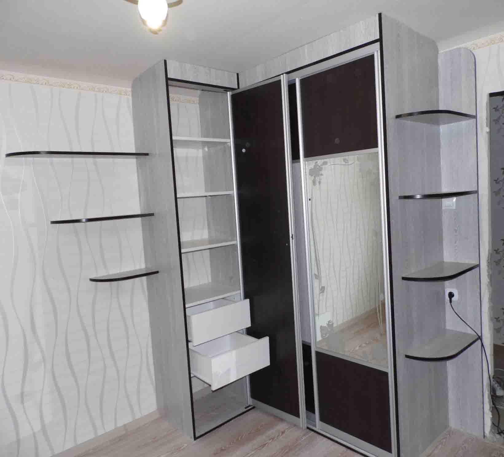 Шкаф угловой в спальню на заказ от производителя. угловые шк.