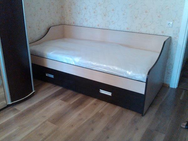 Кровать односпальная с ящиками фото