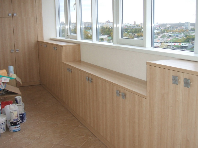 Встроенная мебель для балкона и лоджия уфа.