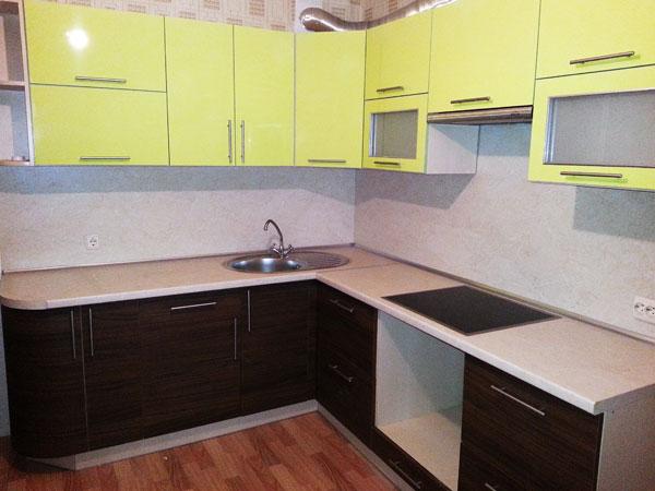 кухни из пластика двухцветные фото