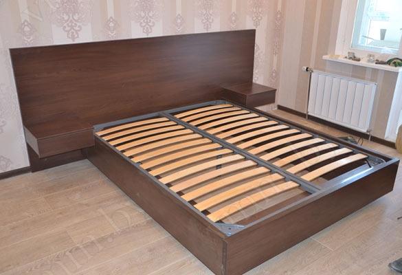 Кровати двуспальные цвет венге
