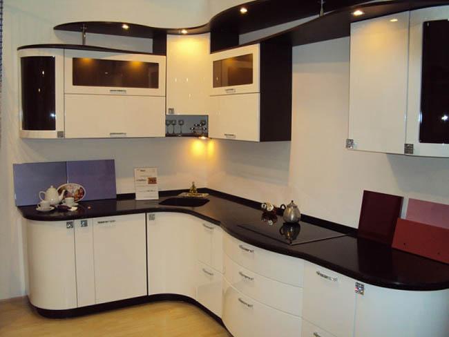 угловые кухни с гнутыми фасадами фото сша широко известен