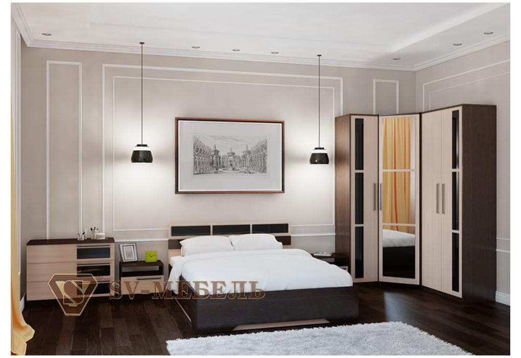 Спальный гарнитур угловой фото