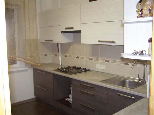 Кухни двух цветов фото