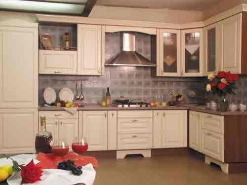 Кухня мдф угловая светлая