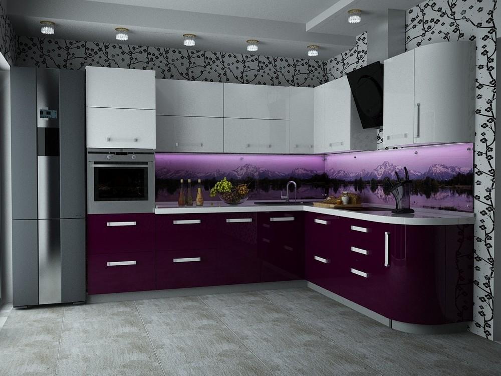 Двухцветные кухни фото