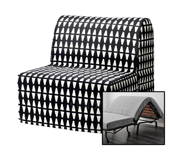 кресло кровать икеа ликселе лёвос эббарп черно белый
